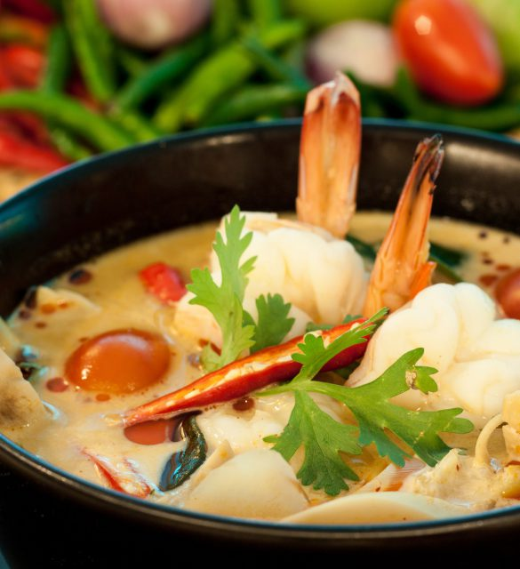 Tom Yum Goong - Thai hot and spicy soup with shrimp - Thai Cuisine
