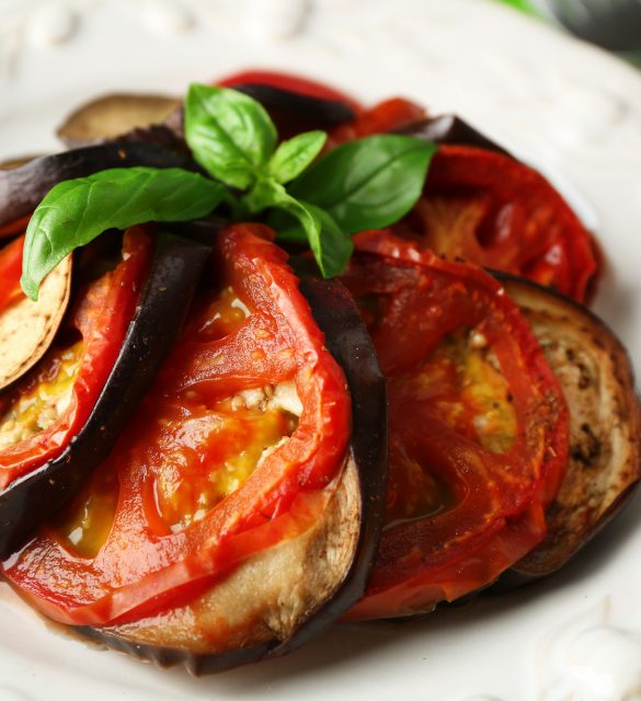 Ratatouille on plate, close-up