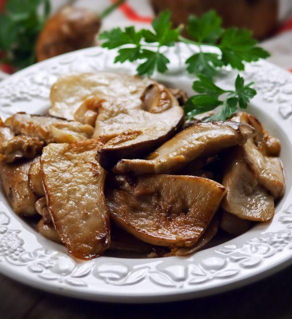 Funghi arrosto - Roasted mushrooms