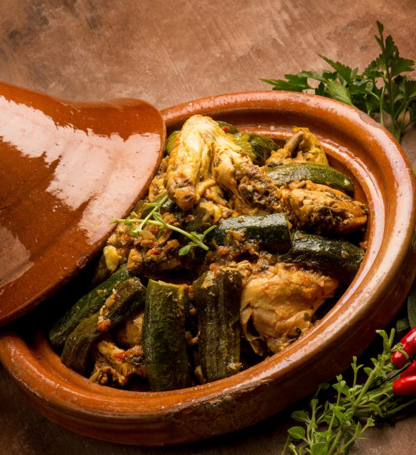 tajine with meat vegetables and spice